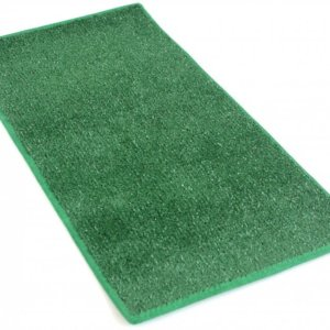 Green Heavy Indoor-Outdoor Artificial Grass Turf Area Rug Carpet