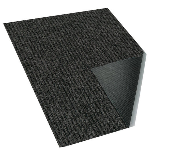 Inspiration Indoor-Outdoor Olefin Carpet Area Rug Black grey