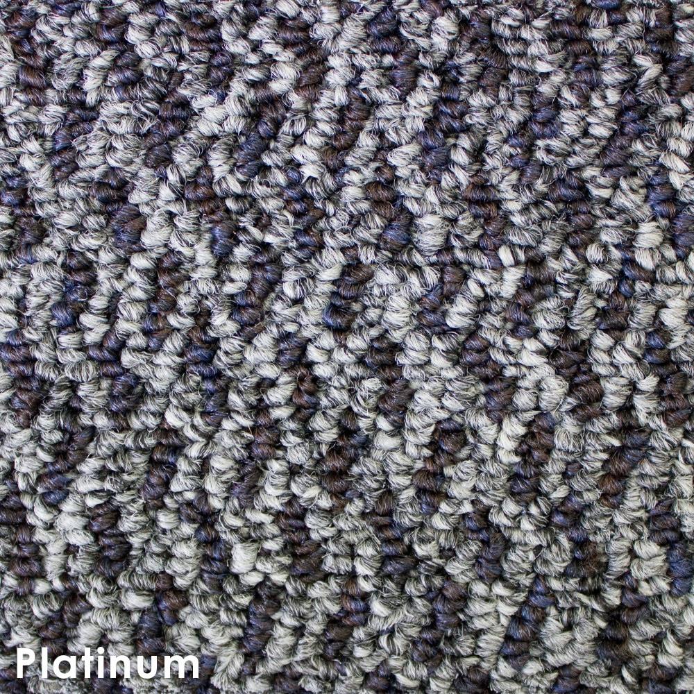 Zeal Platinum Indoor Outdoor Graphic Loop Carpet Area Rug