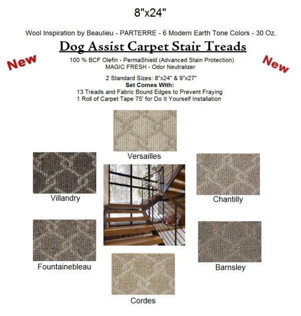Parterre DOG ASSIST Carpet Stair Treads