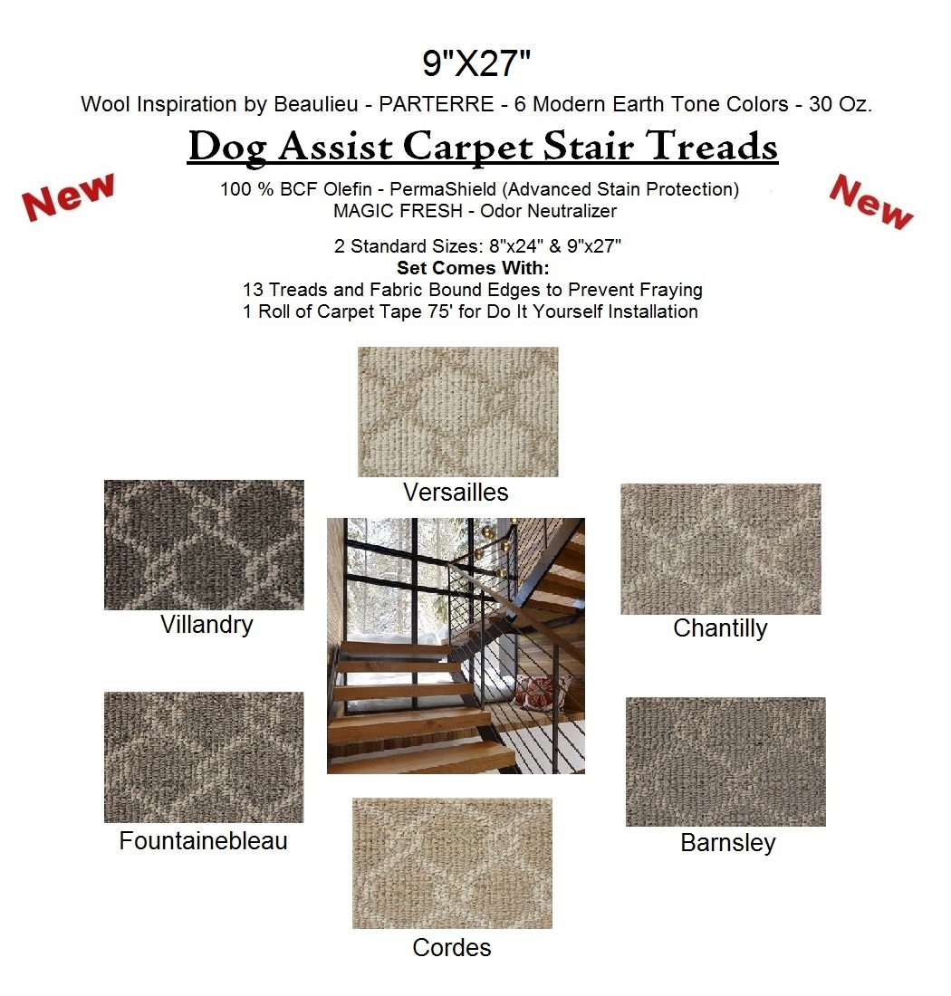 Parterre Ii Dog Assist Carpet Stair Treads