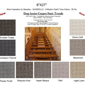 Quadrille II DOG ASSIST Carpet Stair Treads