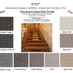 Quadrille II DOG ASSIST Carpet Stair Treads