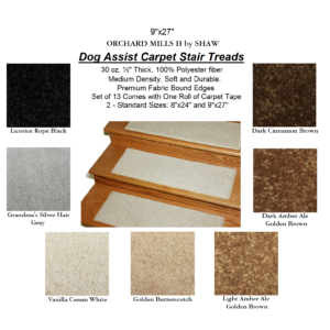 Orchard Mills AII DOG ASSIST Carpet Stair Treads