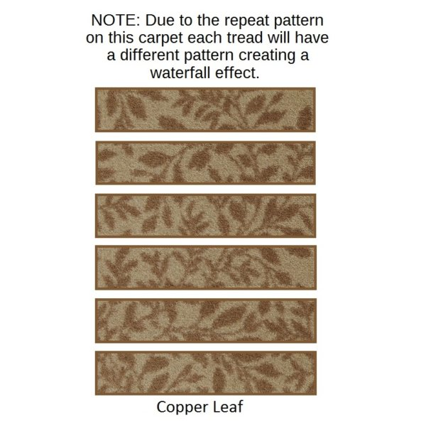 hidden trail copper leaf rug