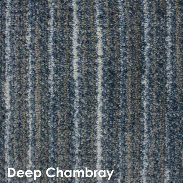 Basis DOG ASSIST Carpet Stair Treads Deep Chambray