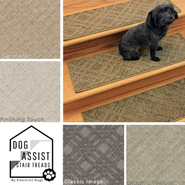 Interweave II DOG ASSIST Carpet Stair Treads