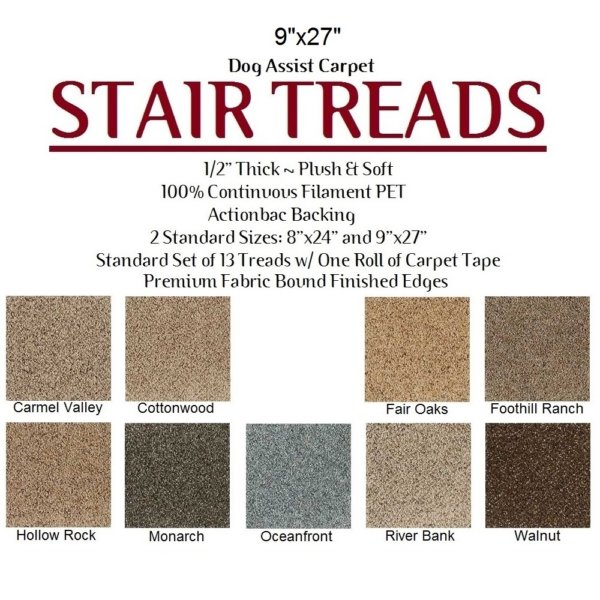 Huntington II DOG ASSIST Carpet Stair Treads
