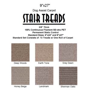 Sienna II DOG ASSIST Carpet Stair Treads