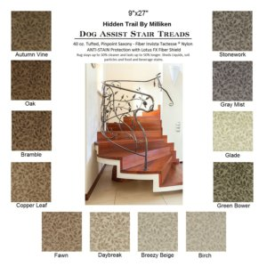Hidden Trail II DOG ASSIST Carpet Stair Treads
