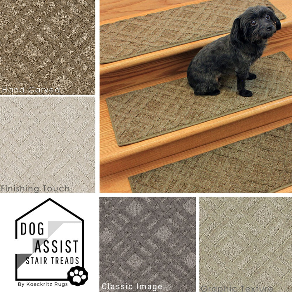 Interweave DOG ASSIST Carpet Stair Treads 8x24