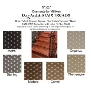 Diamante II DOG ASSIST Carpet Stair Treads