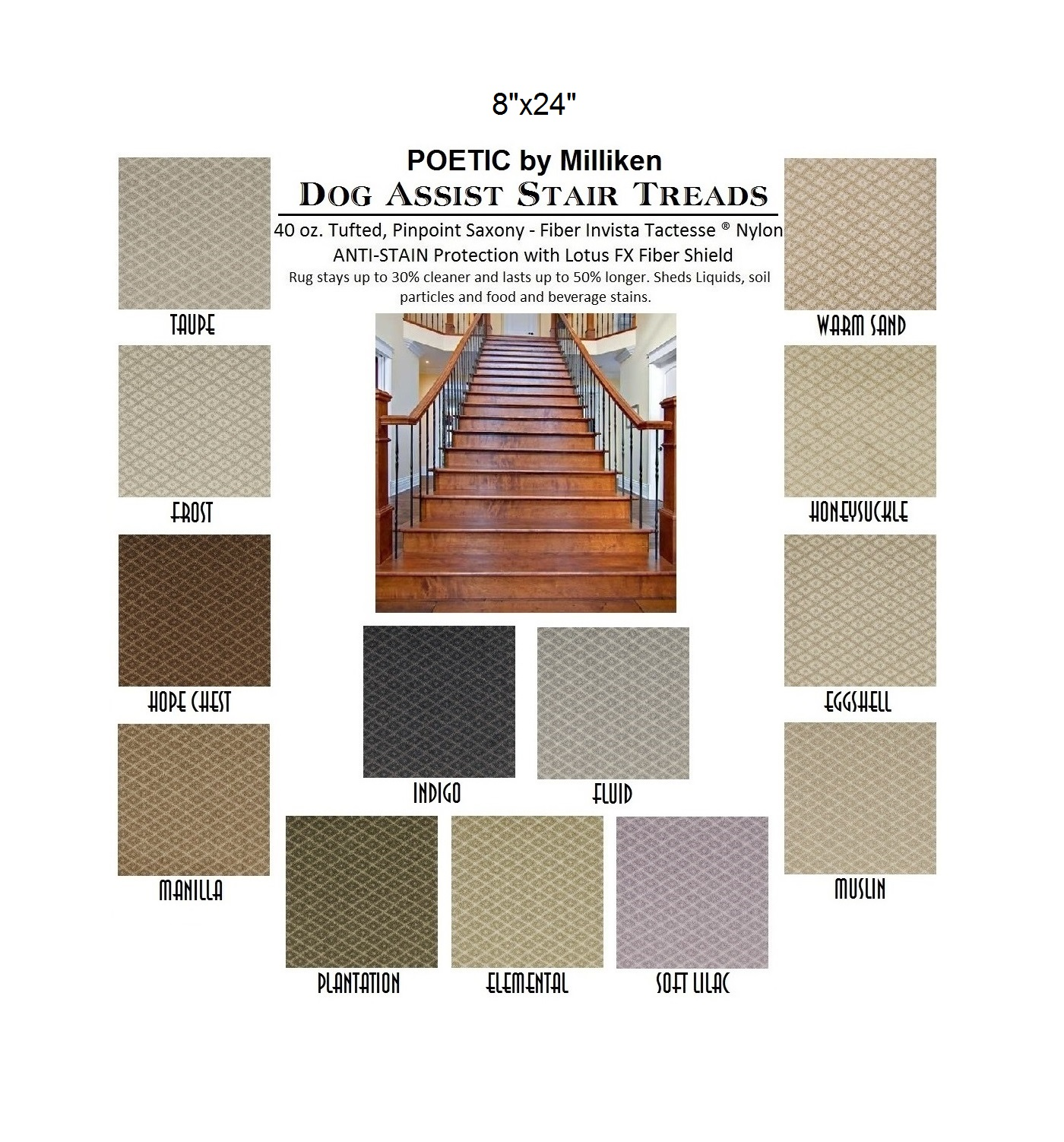 Poetic DOG ASSIST Carpet Stair Treads