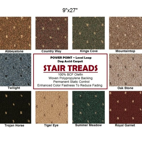 Power Point II DOG ASSIST Carpet Stair Treads