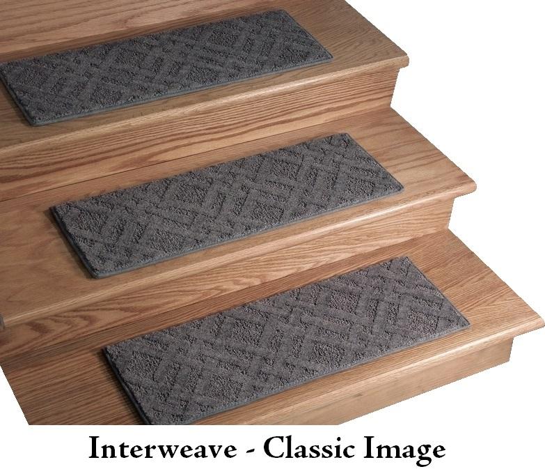 Interweave II DOG ASSIST Carpet Stair Treads | 9u2033x27u2033 (13 Treads Per Set)  In Multiple Colors Nylon By Milliken
