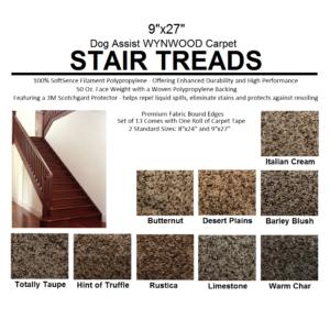 Black And Tan 32 Oz Plush Textured Stair Treads