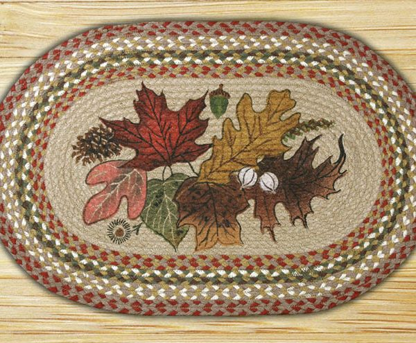earth rugs autumn leaves earth rugs autumn leaves oval patch braided rug collection 20u2033 x 30u2033 op24