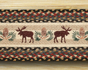 EARTH RUGS Bear Moose BRAIDED JUTE Stair Treads ST-OP-43