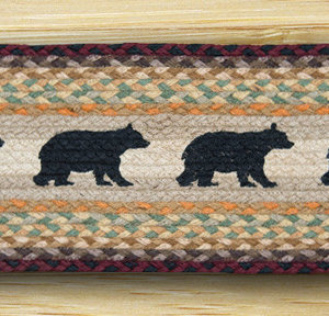 EARTH RUGS Cabin Bear BRAIDED JUTE Stair Treads ST-OP-395