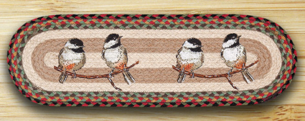 EARTH RUGS Chickadee BRAIDED JUTE Stair Treads ST-OP-81