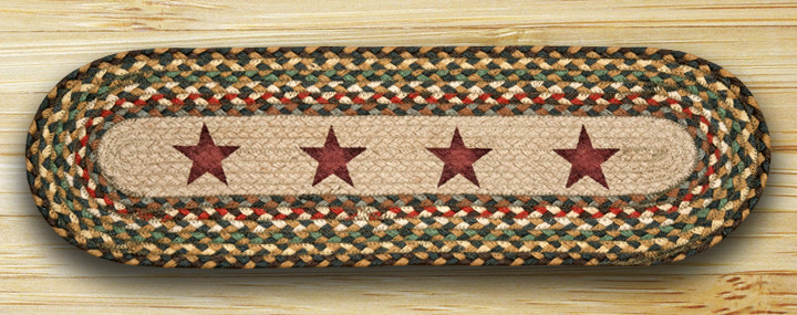 EARTH RUGS Gold Stars BRAIDED JUTE Stair Treads ST-OP-51