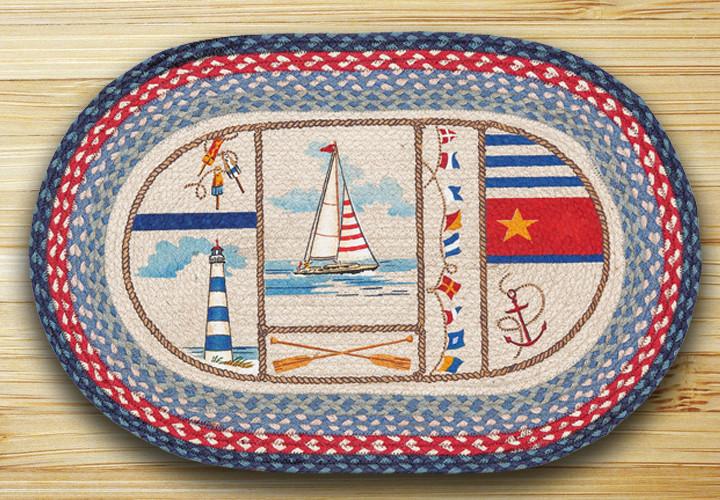 Nautical Rugs Earth Rugs Nautical Breeze | Earth Rugs Nautical Breeze Oval Patch Braided  Rug Collection 20u2033 x 30u2033 OP-458