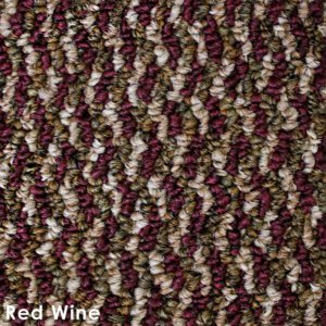 Zeal Red Wine Indoor/Outdoor Graphic Loop Carpet Area Rug