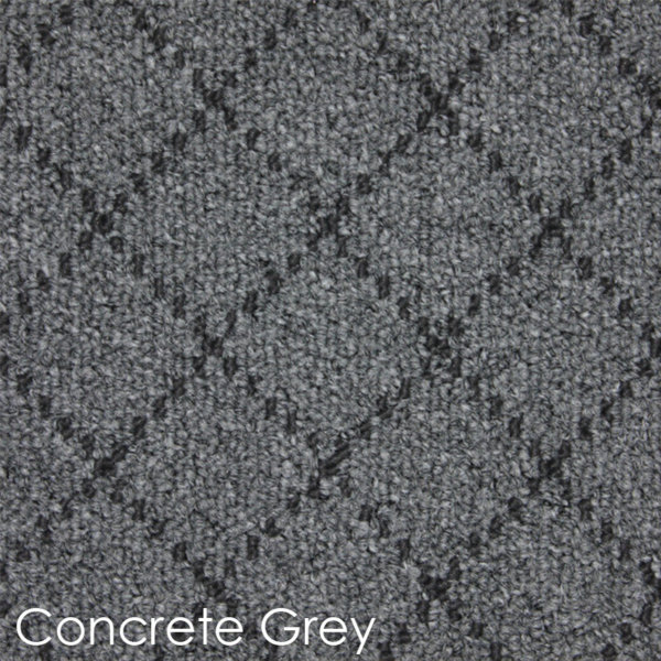 Ansley Park DOG ASSIST Carpet Stair Treads Concrete Grey