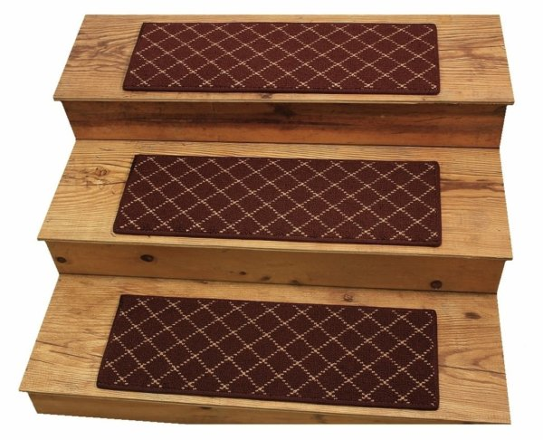 Ansley Park DOG ASSIST Carpet Stair Treads Old Brick 1