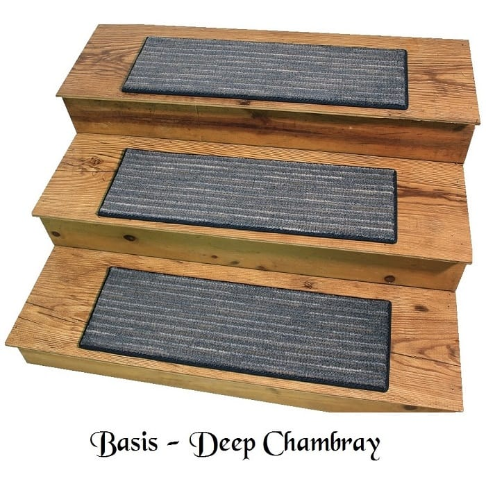 BASIS Deep Chambray DOG ASSIST Carpet Stair Treads