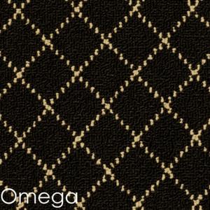 Omega pattern black rug