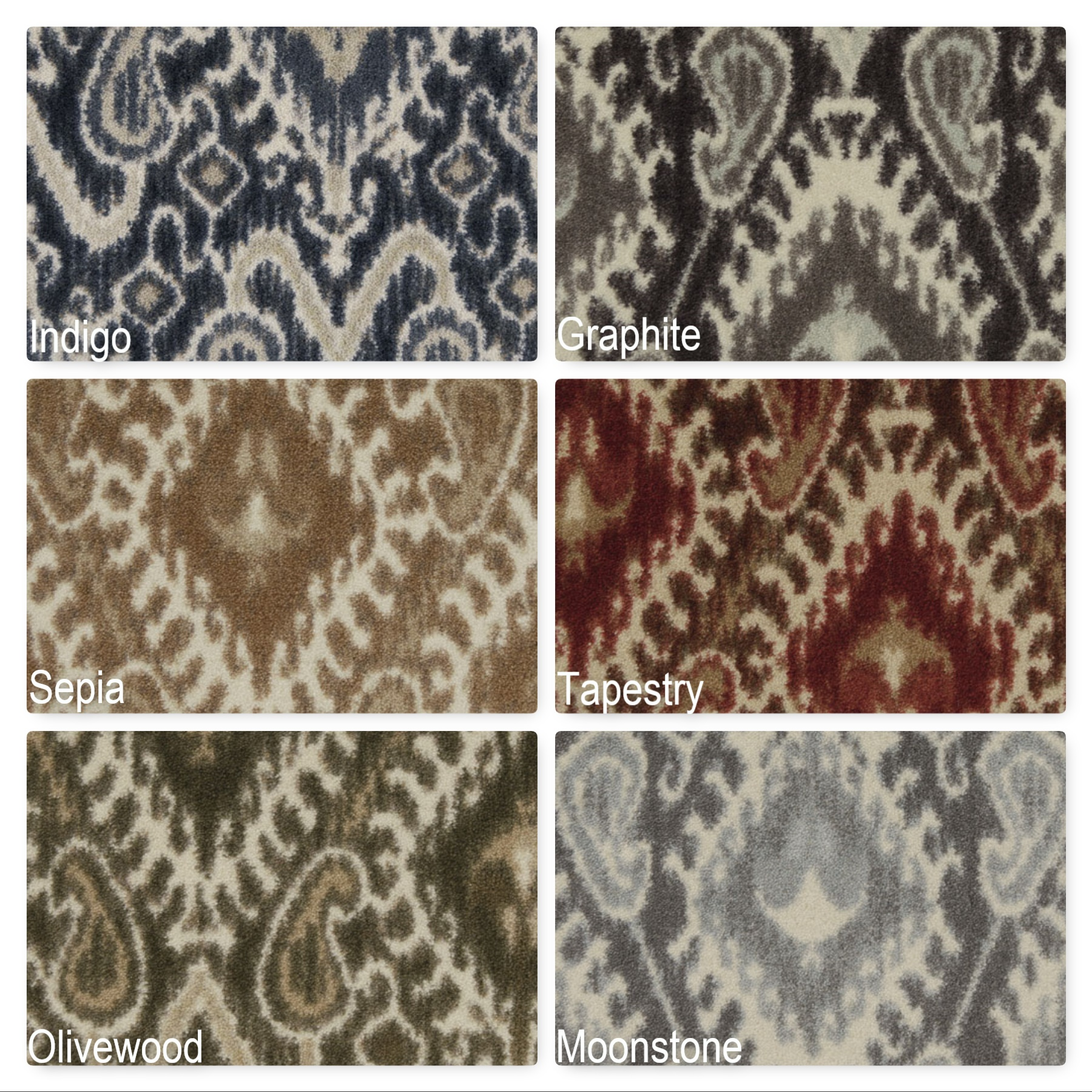 milliken artisan indoor ikat pattern area rug  ikat carpet  ikat  - milliken artisan indoor ikat pattern area rug collection  ″ thick  ozcut pile area rug multiple colors