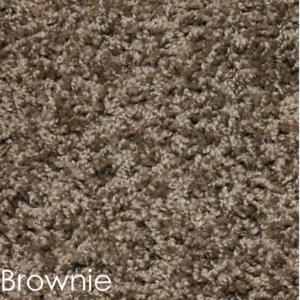 Cornerstone 25 oz Indoor Frieze Area Rug Collection Brownie
