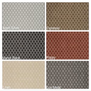 Milliken Cavetto Indoor Ogee Pattern Area Rug Collection