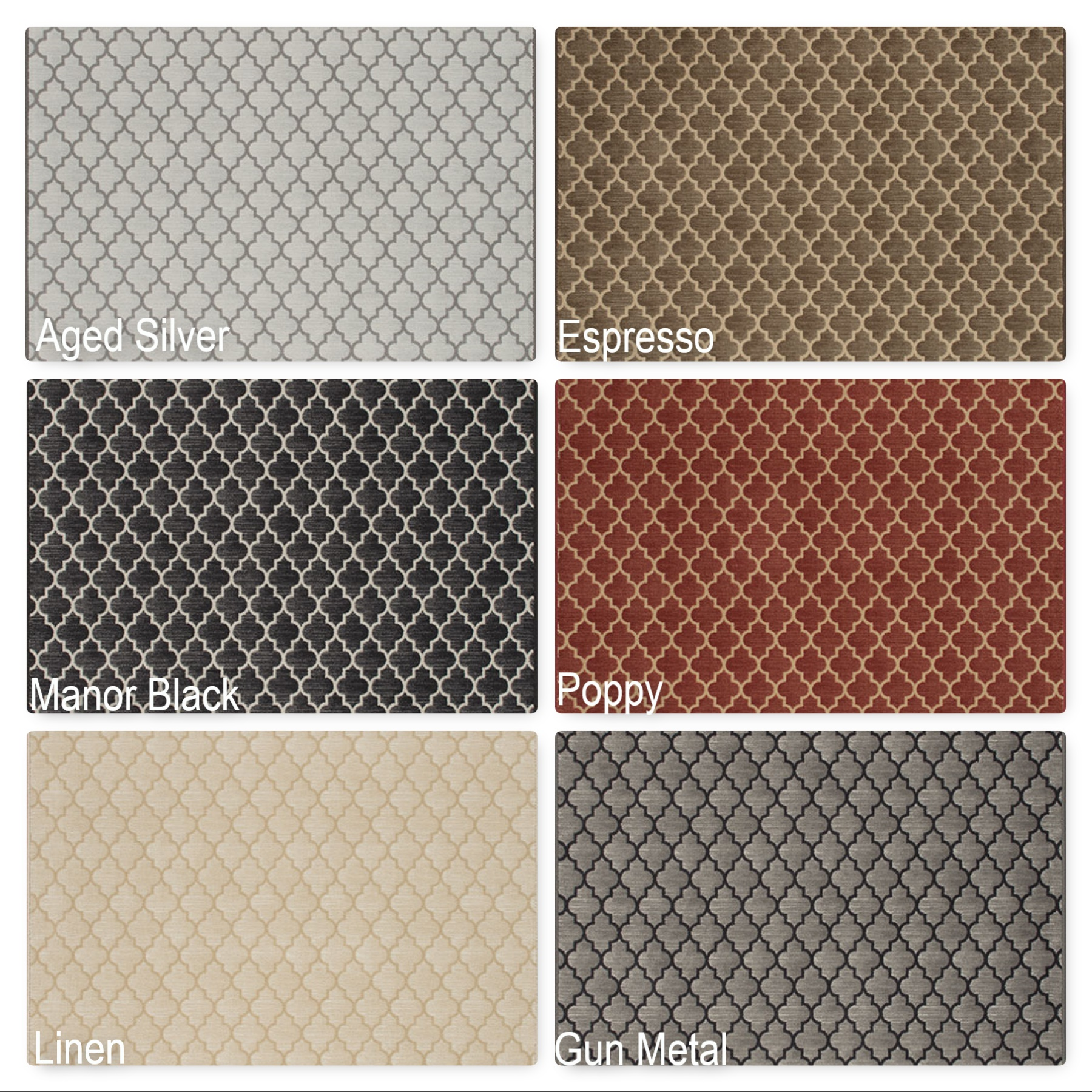 Milliken Cavetto Indoor Ogee Pattern Area Rug Collection