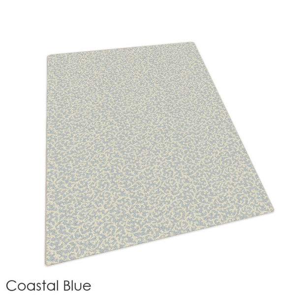 Milliken Coral Springs Pattern Indoor Area Rug Collection Coastal Blue