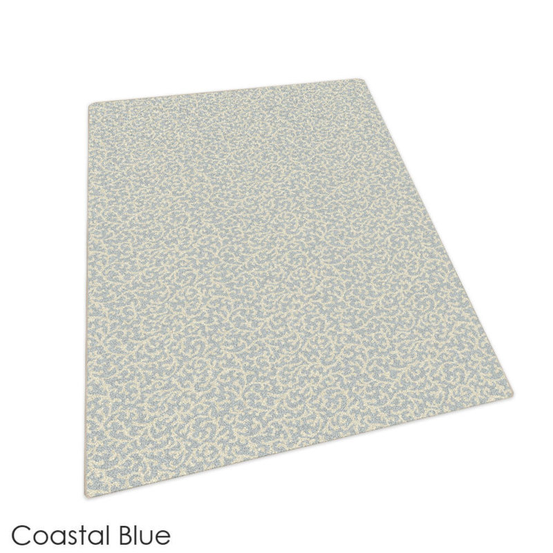 Milliken Coral Springs Pattern Indoor Area Rug Collection Coastal Blue