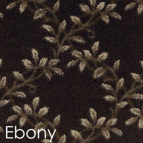 Milliken Organic Indoor Leaf Pattern Area Rug Collection Ebony