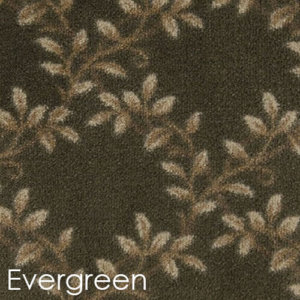 Milliken Organic Indoor Leaf Pattern Area Rug Collection Evergreen