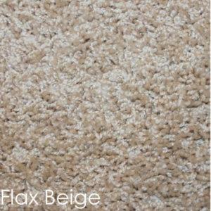 Cornerstone 25 oz Indoor Frieze Area Rug Collection Flax Beige