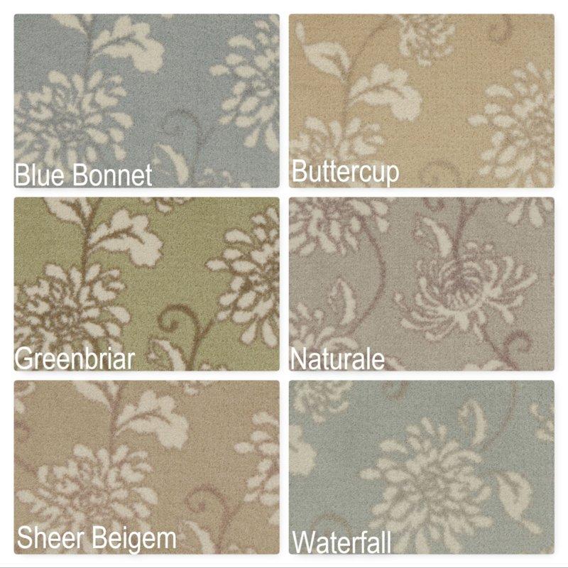Milliken Grand Fleur Indoor Floral Pattern Area Rug Collection