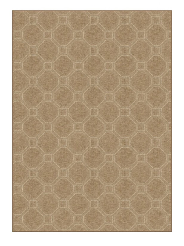 Milliken Delicate Frame Indoor Octagon Pattern Area Rug Collection Sable rug