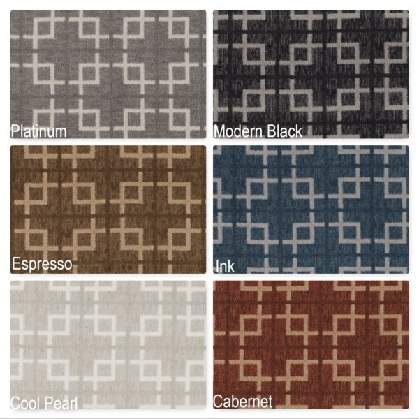 Milliken Network Indoor Square Pattern Area Rug Collection