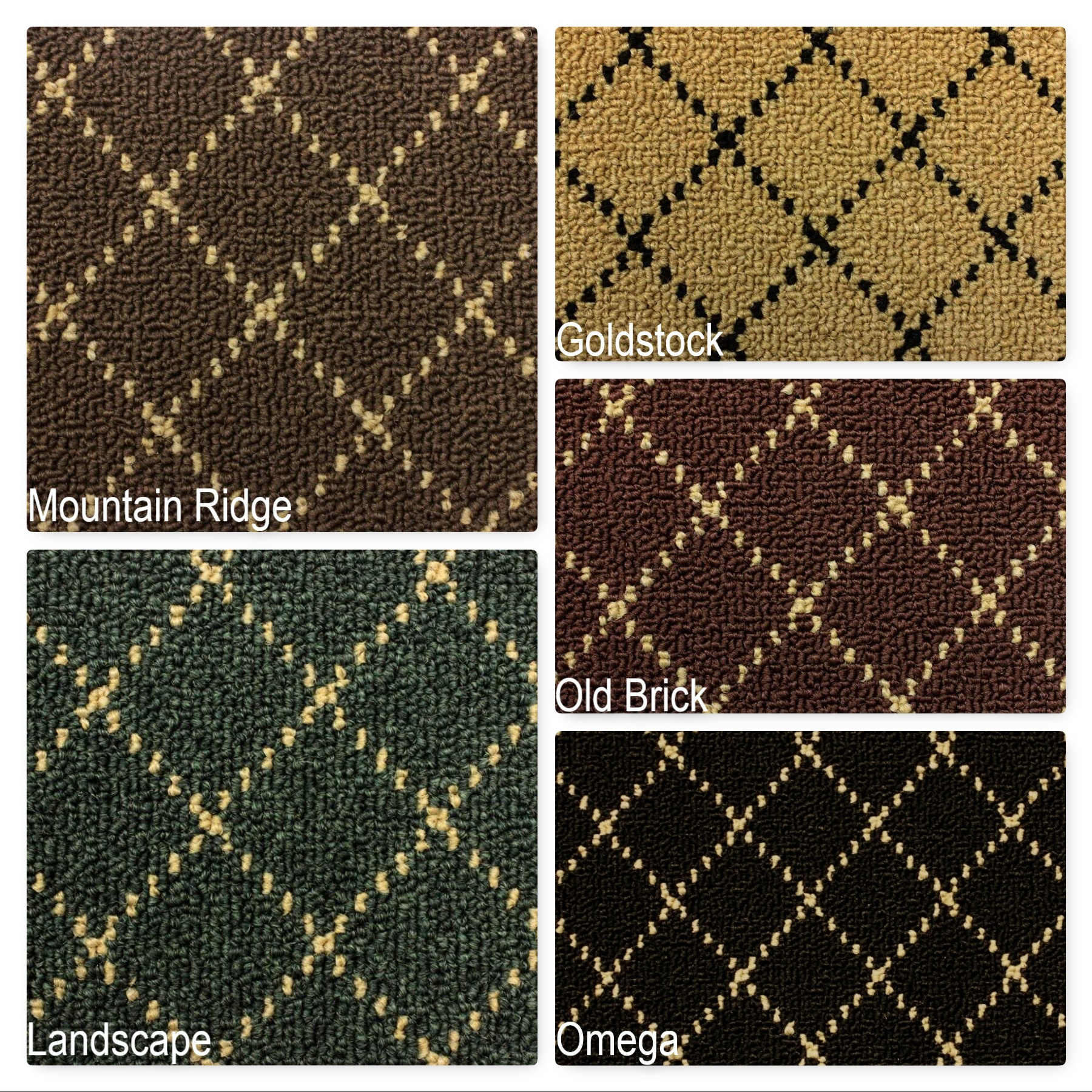 Ansley Park Indoor Diamond Pattern Berber Area Rug Collection