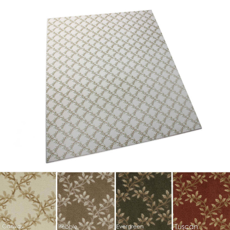 Organic Leaf Pattern Indoor Area Rug Collection