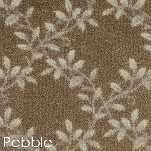 Milliken Organic Indoor Leaf Pattern Area Rug Collection Pebble