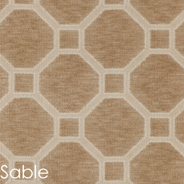 Milliken Delicate Frame Indoor Octagon Pattern Area Rug Collection Sable