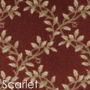 Milliken Organic Indoor Leaf Pattern Area Rug Collection Scarlet