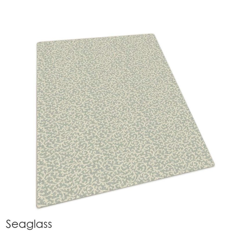 Milliken Coral Springs Pattern Indoor Area Rug Collection Sea Glass
