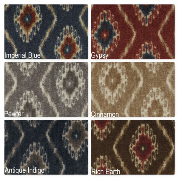 Milliken Silk Road Indoor Ikat Pattern Area Rug Collection